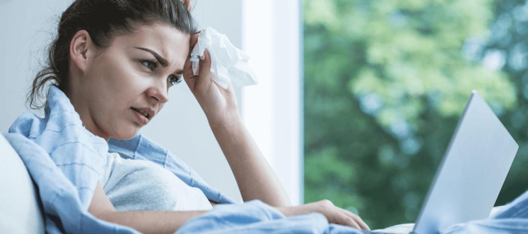trabajar con síntomas de gripe